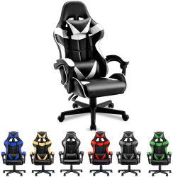 10% de desconto em Racing RGB Light Modern Office Computer PC Gamer Cadeira de jogo em pele PU ajustável e barata