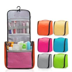 Travelsky Custom Good Quality Large Travel Hanging Toiletry Cosmetic Bag Make-up Organizer