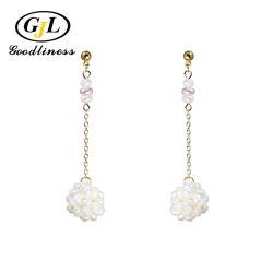 Zilveren sieraden Pearl Ball Flower Earring Fashion Pearl Jewelry