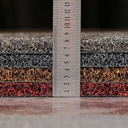 Beste Qualität Noodle Mat Spike Backing PVC Coil Mat Rollen, Double Color Nail Backing PVC Kissen Matte