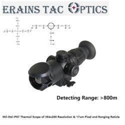 MIL-Std على مدى 800 متر كشف الرؤية الليلية على الطراز العسكري الصيد نطاق بندقية الرؤية الحرارية