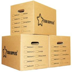 Fabricante de impressão portátil de tamanho personalizado Brown reforçar o transporte de Papelão Ondulado Carton mover a caixa de Papel para Embalagem