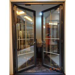 Portelli di vetro della stoffa per tendine di alluminio dell'oscillazione rifiniti obbligazione interna (KDSSD038)