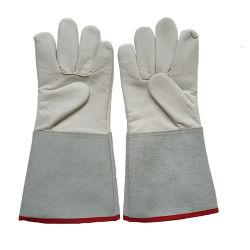 우수한 그립 손 쪼개지는 가죽 팔목을%s 가진 적당한 TIG MIG 용접 뜰을 만드는 일 염소 가죽 가죽 장갑