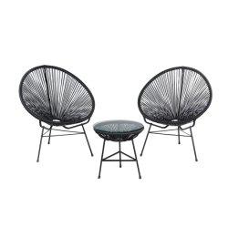 Jardim colorido pátio exterior barata PE Cadeira de vime com mobiliário de cadeira de vime Almofada