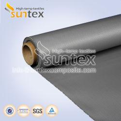 Panno rivestito di silicone a prova di fuoco del silicone del tessuto della fibra di vetro dell'isolamento termico per protezione smontabile dei rivestimenti e della saldatura dell'isolamento