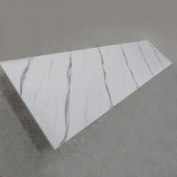 シャワーの壁のためのアクリルの固体表面シート12mm黒いカラー