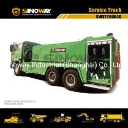 شاحنة تشحيم شاحنة الخدمة مرفاعية 6x6 شاحنة تشحيم وقود الشاحنات 6X4