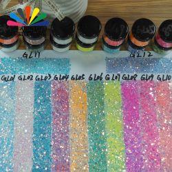 Factory Direct fourniture en gros d'amende et la taille mixte en vrac Chunky irisé et Rainbow décalage de la couleur de changement de couleur caméléon Paillettes polyester