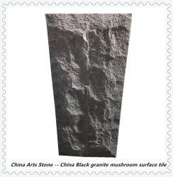 きのこの壁のタイルのための中国の絶対黒い花こう岩