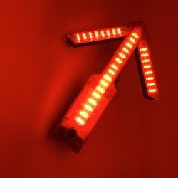 12W LEIDENE van de LEIDENE Macht van de Pijl het Teken van de Pijl van de Gids van de Lichte, Hoge Waarschuwing van het Verkeer voor Verkeersveiligheid met leiden 64PCS en Magnetische Basis, Vouwbaar Ontwerp