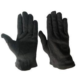 ライブラリ使用のセールスマンの本の点検保護黒の綿の手袋