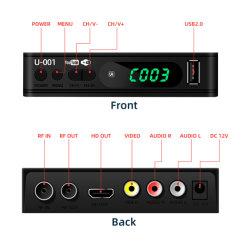 Junuo DVB-T2 HD TV Receptor Digital terrestre con Control Remoto negro