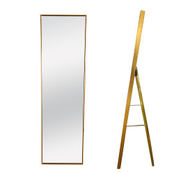 Aangepaste moderne kunststof Golden Dressing Mirror Full Size Length stand Spiegel