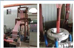 HDPE LDPEカラーしまのあるプラスチックフィルム吹く機械