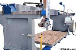 Hulongの機械装置Hknc-825 5の軸線花こう岩の石の大理石の水晶カウンタートップの製造のための石造り橋鋸引きの機械裁ち機械