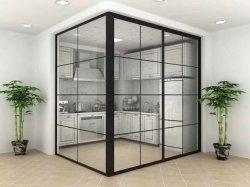 Estrutura fina Partição de alumínio na janela de vidro/PORTA CORREDIÇA