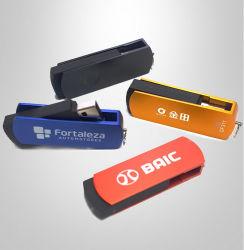 Cadeau promotionnel faible budget de gros d'usine de métal classique coloré les lecteurs Flash USB pivotant avec gravure logo ou un logo d'impression de la soie