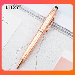 Creative Or Rose Stylo à bille de métal peut être Logo personnalisé Bureau d'affaires cadeau publicitaire stylo tactile