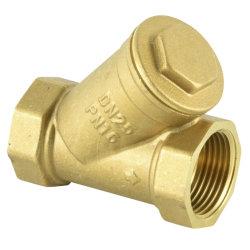 Y Type clapet antiretour en laiton 1/2-2''inch avec filtre en acier inoxydable