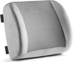 Sitzträger zurück Pillow Büro-Stuhl und Auto-Sitzkissen - Speicher-Schaumgummi mit Nackenband mit Halterung und Breathable Ineinander greifen 3D
