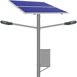 Doble cabeza Lampara Solar Portatil Solar LED Exterior Jardin