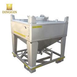 Корпус из нержавеющей стали квадратных IBC для твердых зерна или порошок товаров