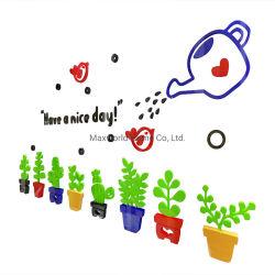 Adhésif acrylique couleur 3D Plante en pot DIY Accueil Sticker Mural Stickers