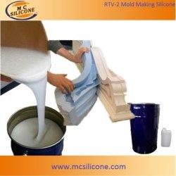 Silicone liquide blanc pour la fabrication de moules de plâtre décoratif