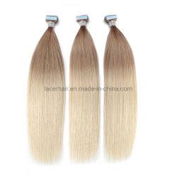 Hoogste Kwaliteit 100% de Maagdelijke Huid Weft Pu van de Uitbreidingen van het Menselijke Haar van de Band Remy Maagdelijke