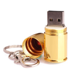 Mini-USB-Blitz-Laufwerk-Gold-USB-Stock mit 8 GBs Speicher-Stock USB-Blitz-Laufwerk