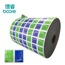 Folha de alumínio laminado em alumínio laminado Papel de embalagem embalagem médica saqueta de alumínio a impressão de folhas de papel