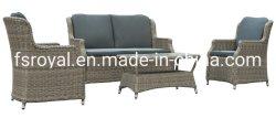 4pcs Kd ocio moderno El Mimbre Rattan Inicio Hotel El Patio al Aire Libre de oficina mobiliario de jardín sofá