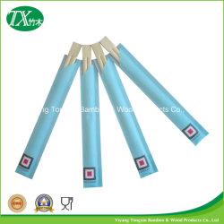 Los Gemelos Naturl palillos de bambú desechables con funda de papel