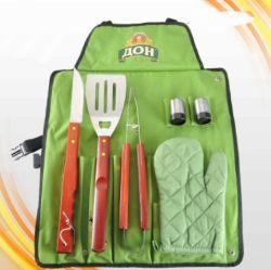Hilfsmittel-Sets BBQ-7PCS mit Schutzblech-Beutel-Paket