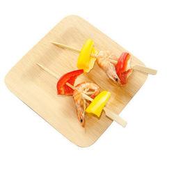 """3.5 """" piatti quadrati di bambù a gettare ecologici concimabili dell'assaggio per l'insieme di pranzo di approvvigionamento e della casa"""