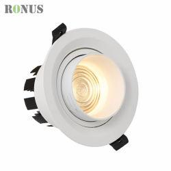 BinnenVerlichting Downlight van het Plafond van de Lamp van de Vlek van Focusable 5/10W van de Stralingshoek van LEIDENE Schijnwerper 15-60 van de MAÏSKOLF De Lichte