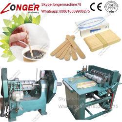 機械に木のスプーン機械をする木製のアイスクリームの棒の舌圧子