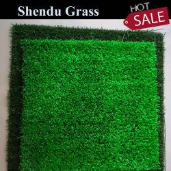 Preiswerter gefälschter synthetischer Gras-Plastikrasen-künstlicher Rasen 10mm für Garten-Fußball und Landschaft
