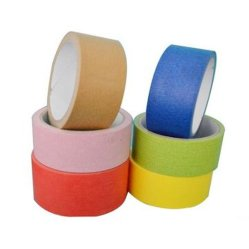 Excelente adherencia de la cinta de enmascarar de papel crepé