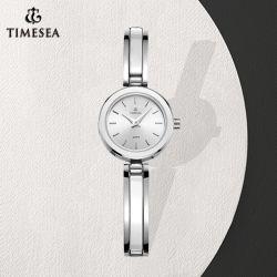 Mini reloj de cerámica de la moda de Regalo de acero Reloj de dama (71145)