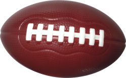 PU-Speicher-Kugel-Fabrik-Druck-Spielzeug-Rugby für Förderung
