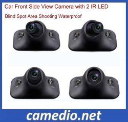 HD Camera van het Zijaanzicht van de Auto van de Visie van de nacht de Voor met 2 LEIDENE van IRL Waterdichte Blinde vlek