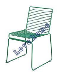 نسخة حديث معدنة مطعم أثاث لازم قابل للتراكم جانب سلك يتعشّى كرسي تثبيت