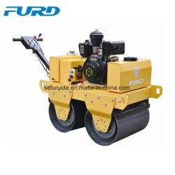 Venda a quente Furd pé atrás do tambor de Tandem rolo vibratório com tanque de água