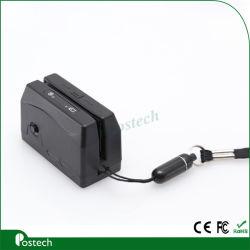 قارئ بطاقات ممغنطة بقارئ بطاقات إلكترونية بقارئ بطاقات إلكترونية مغنطيسية من نوع USB 300 (Mini 123EX)