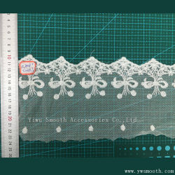 Белый кружевной вышивкой одежда аксессуары водорастворимые хлопчатобумажной ткани из текстиля