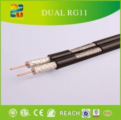 Fabricado na China Qualidade RG11 cabo duplo com o Messenger