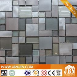 Mur de la salle de bains en aluminium et Cold Spray Mosaïque de verre (M855077)