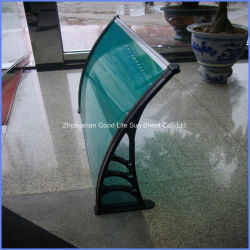 Outdoor DIY Plastic Polycarbonate Balcony Sun Shades with Aluminum Composite
